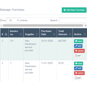 Stock Management Software- Manage Purchase